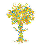 Árbol en color stock de ilustración