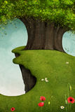 Árbol en el acantilado libre illustration