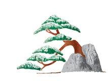 Árbol en la piedra fotografía de archivo libre de regalías