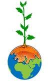 Árbol en la tierra stock de ilustración
