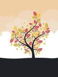 árbol estilizado del otoño Imágenes de archivo libres de regalías