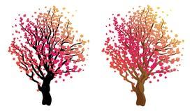 árbol estilizado del otoño Fotografía de archivo libre de regalías