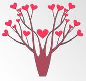 Árbol estilizado del vector Fotografía de archivo