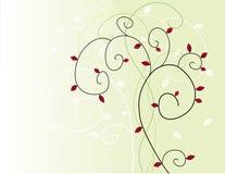 Árbol estilizado en caída Imágenes de archivo libres de regalías
