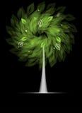 Árbol estilizado futurista con leafage Ilustración del Vector