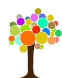 Árbol europeo de la lengua Foto de archivo libre de regalías