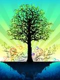Árbol fantástico ilustración del vector