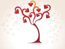 Árbol fantástico del día de tarjeta del día de San Valentín Imagen de archivo libre de regalías