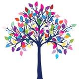 Árbol feliz Fotografía de archivo libre de regalías