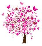 Árbol floral Imagenes de archivo