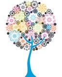 Árbol floral colorido Fotografía de archivo libre de regalías