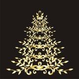 Árbol floral de la Navidad o del Año Nuevo Fotografía de archivo