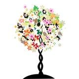Árbol floral del arte Fotografía de archivo