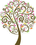 Árbol floral del remolino Imagen de archivo