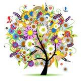 Árbol floral hermoso Imagen de archivo libre de regalías