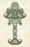 Árbol floral ornamental abstracto Fotos de archivo