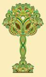 Árbol floral ornamental abstracto Imagen de archivo libre de regalías