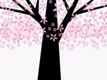 Árbol floral rosado abstracto Imagen de archivo