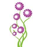 Árbol floral - vector Imágenes de archivo libres de regalías