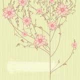 Árbol floreciente Stock de ilustración