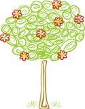 Árbol floreciente agradable Fotos de archivo libres de regalías