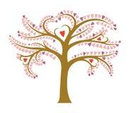 Árbol floreciente estilizado Foto de archivo libre de regalías