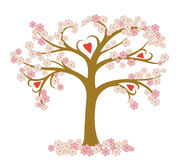 Árbol floreciente estilizado Foto de archivo