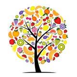 Árbol frutal de la energía para su diseño ilustración del vector