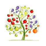 Árbol frutal para su diseño Fotografía de archivo