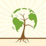 Árbol global ilustración del vector