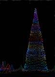 Árbol grande de las luces de la Navidad Fotografía de archivo