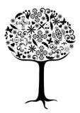 Árbol hecho de elementos del diseño Imagen de archivo