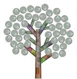 Árbol hecho de latas recicladas variedad Imagen de archivo libre de regalías