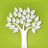 Árbol hecho que del papel corta ilustración del vector