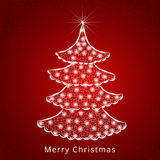 Árbol hermoso de Navidad para las celebraciones de la Feliz Navidad Foto de archivo