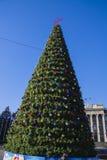 Árbol hermoso del Año Nuevo en Krasnodar Fotos de archivo libres de regalías