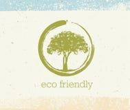 Árbol holístico de la terapia con las raíces en fondo de papel orgánico Concepto amistoso natural del vector de la medicina de Ec Fotografía de archivo libre de regalías