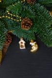 Árbol imperecedero con la bola de oro Fotos de archivo
