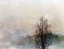 Árbol impresionista ilustración del vector