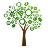 Árbol industrial del concepto de la innovación stock de ilustración