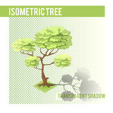 Árbol isométrico 001 Fotos de archivo