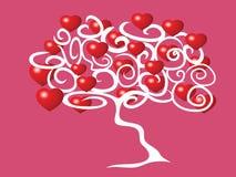 Árbol llenado de amor Stock de ilustración