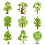 Árbol Logo Cartoon Decorative Icons Imagenes de archivo