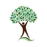 Árbol Logo Design del hombre Amigos sociales de la red libre illustration