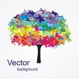 Árbol maravilloso del color de Abctract Imagen de archivo libre de regalías