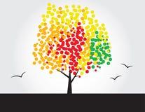 Árbol multicolor ilustración del vector