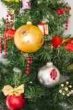 Árbol multicolor del Año Nuevo Fotografía de archivo libre de regalías