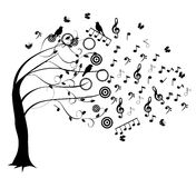 Árbol musical stock de ilustración