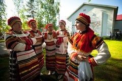 Árbol nacional de la cultura de Vepsian del día de fiesta de la vida Fotos de archivo libres de regalías