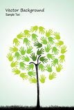 Árbol natural con las manos Fotos de archivo